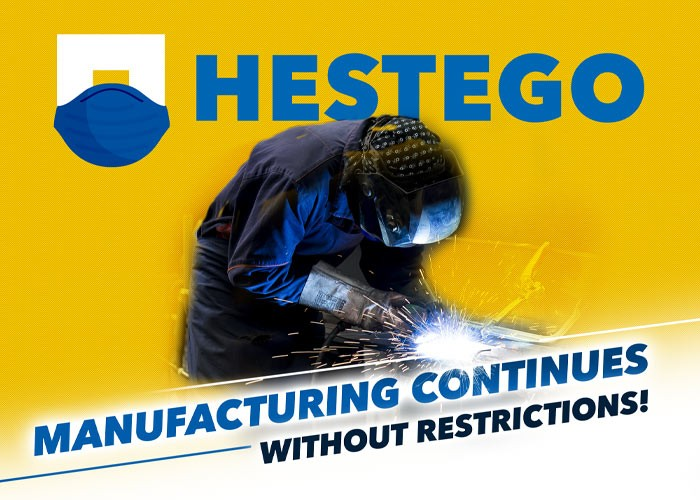 Manufacturing continues without restrictions!